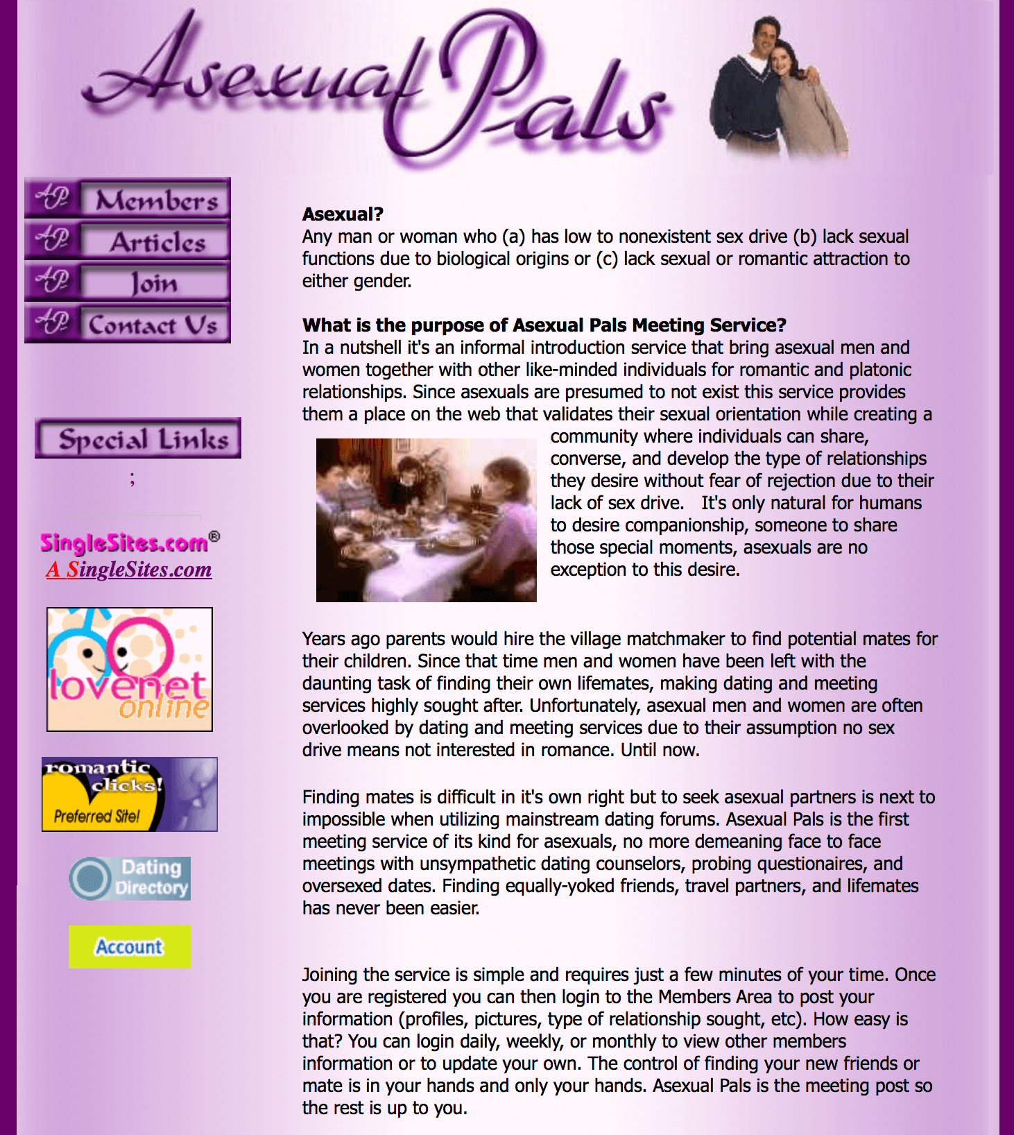 Romantic asexual dating site